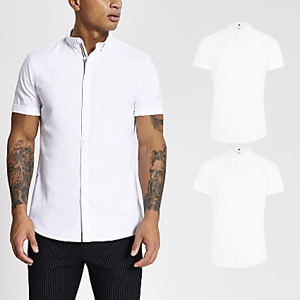 Maison Riviera white Oxford shirt 2 pack