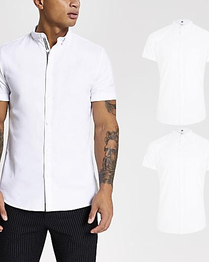 Maison Riviera white Oxford shirt 2 pack