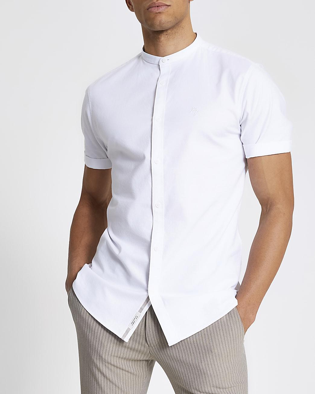 Maison Riviera white short sleeve shirt