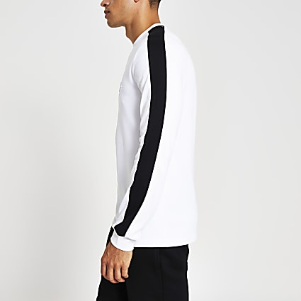 Maison Riviera white slim fit embossed top