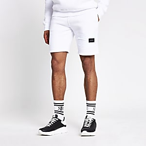 Maison Riviera white slim fit nylon shorts