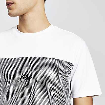 Maison Riviera white slim textured t-shirt