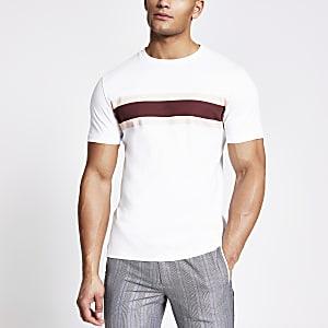 T-shirt slim Maison RIvieraà rayures blanches