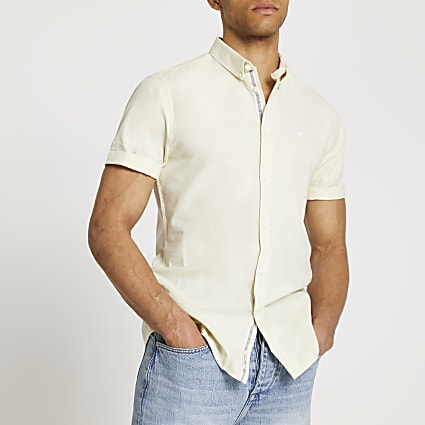 Maison Riviera yellow short sleeve shirt