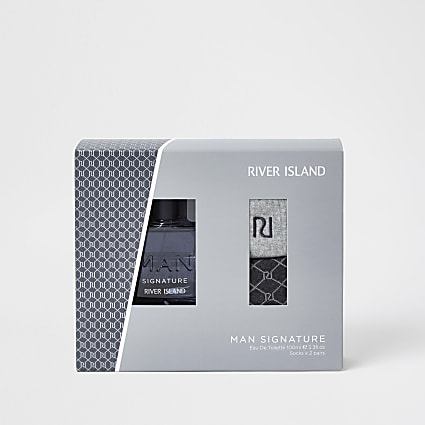 Man Signature Eau De Toilette and Socks Gift
