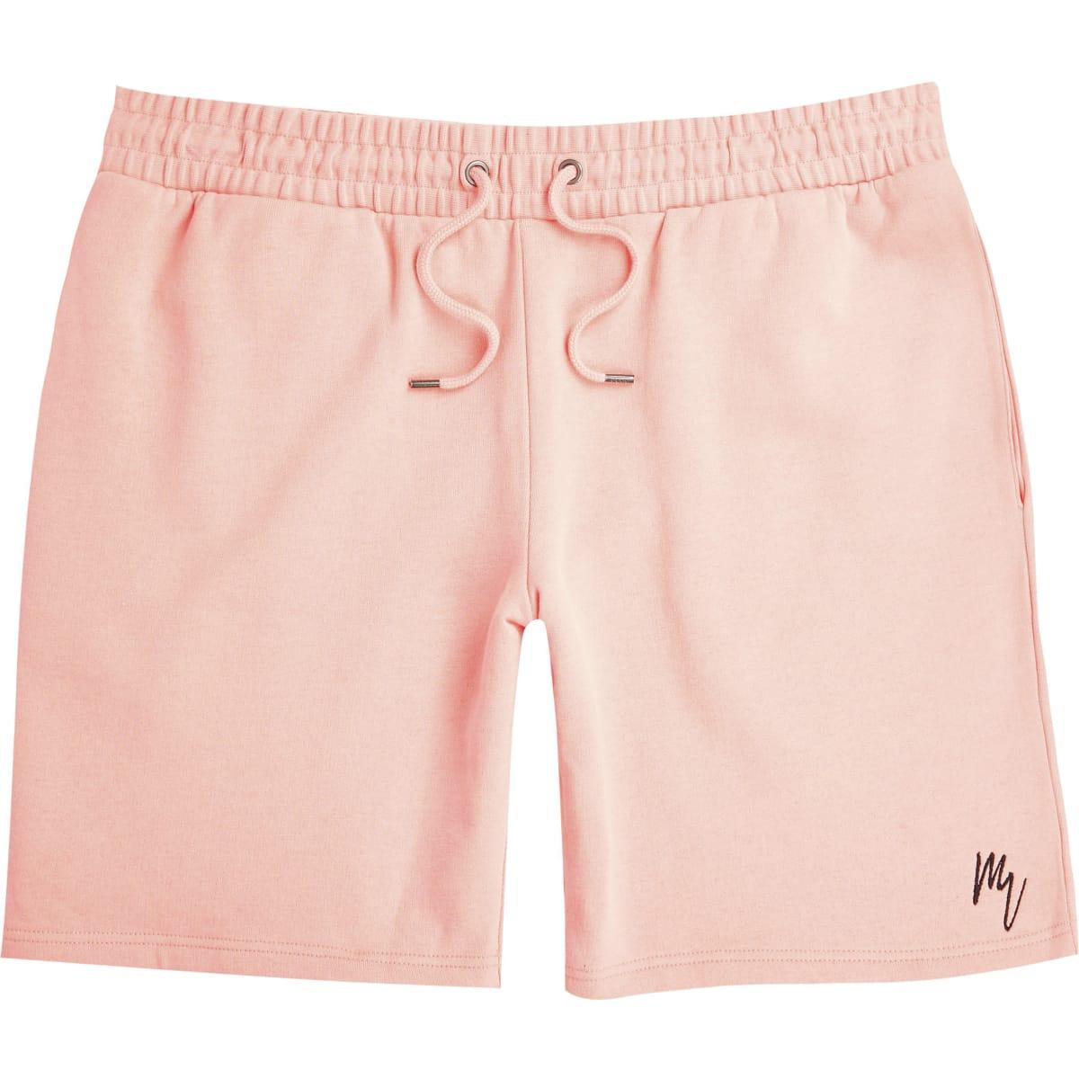 Maison Riviera - Koraalrode slim-fit shorts