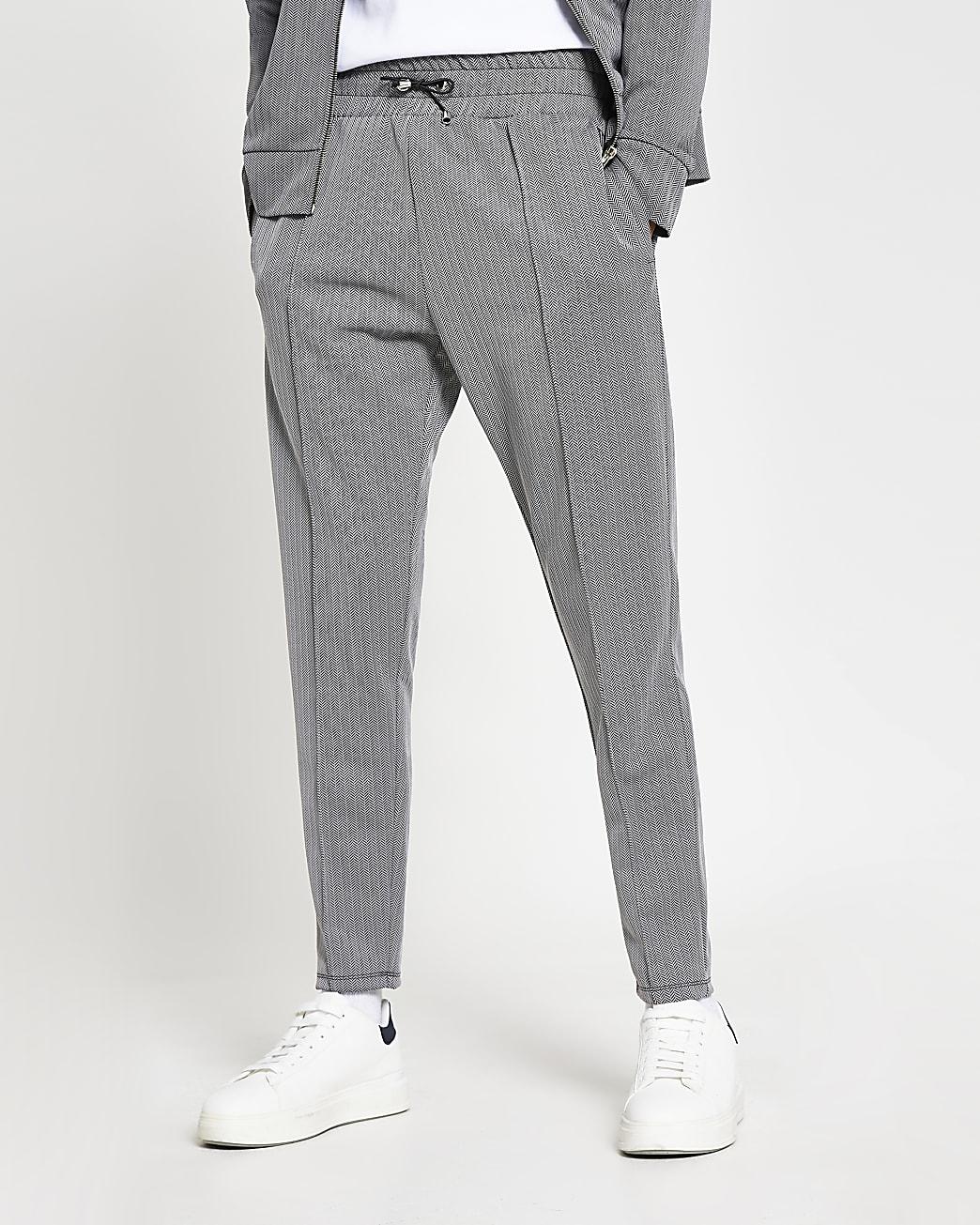 Masion Riviera grey slim fit joggers