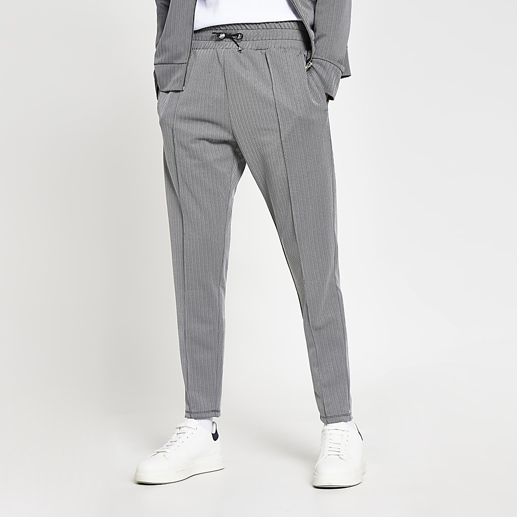 Masion Riviera grey slim fit joggers