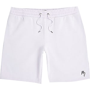 Maison Riviera - Paarse slim-fit shorts