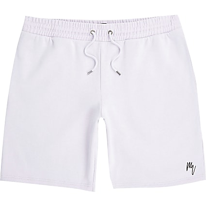 Masion Riviera purple slim fit shorts