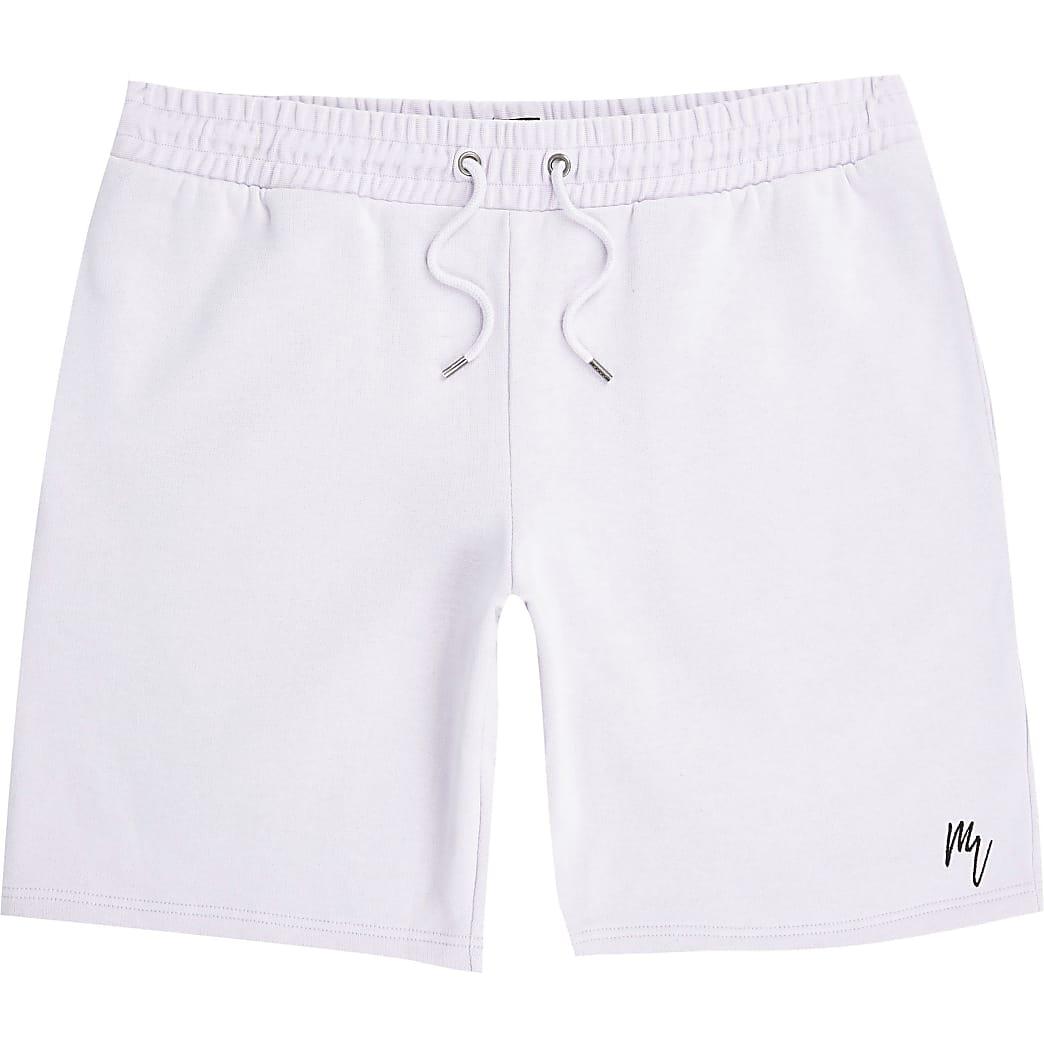 Maison Riviera - Paarse slim-fit shorts