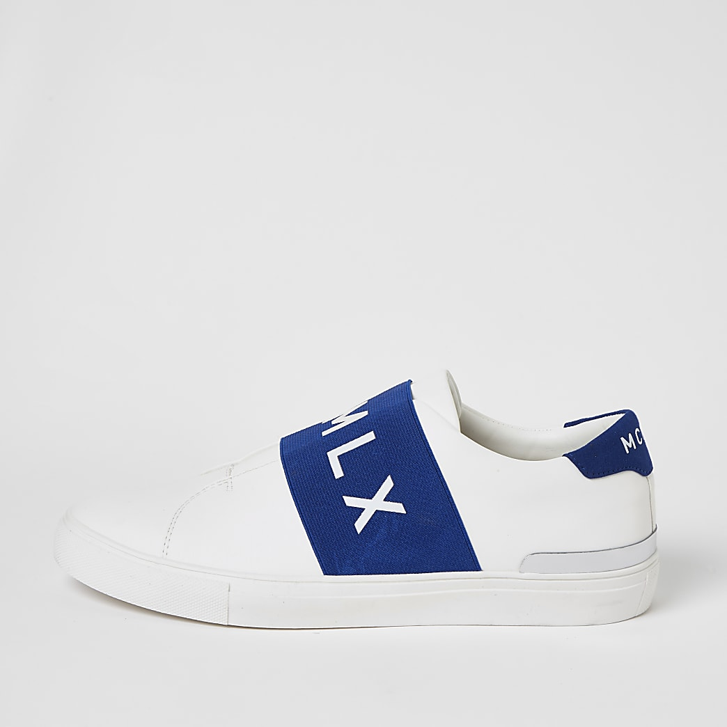 MCMCLX white elasticated trainers