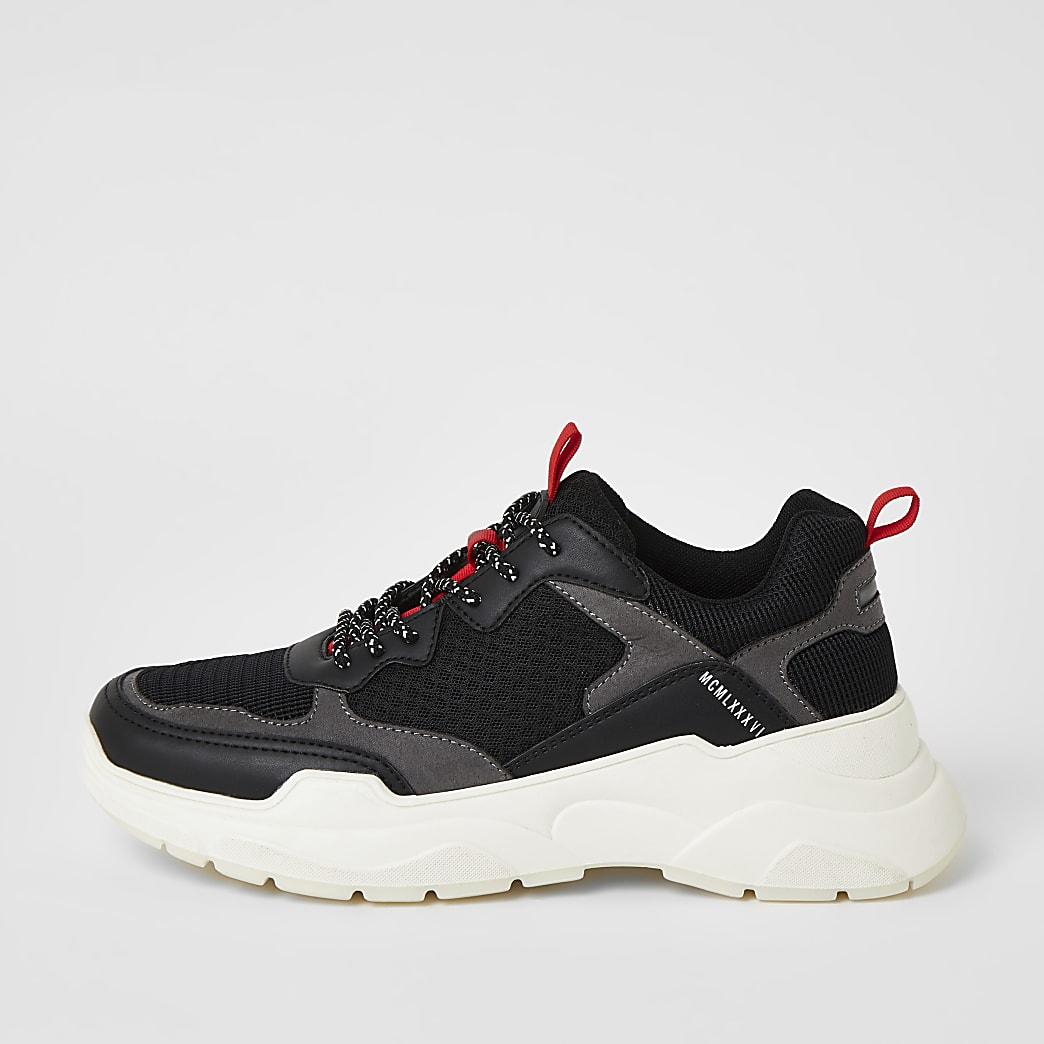 Zwarte stevige MCMLX sneakers met vetersluiting