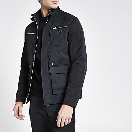 MCMLX black longline racer jacket