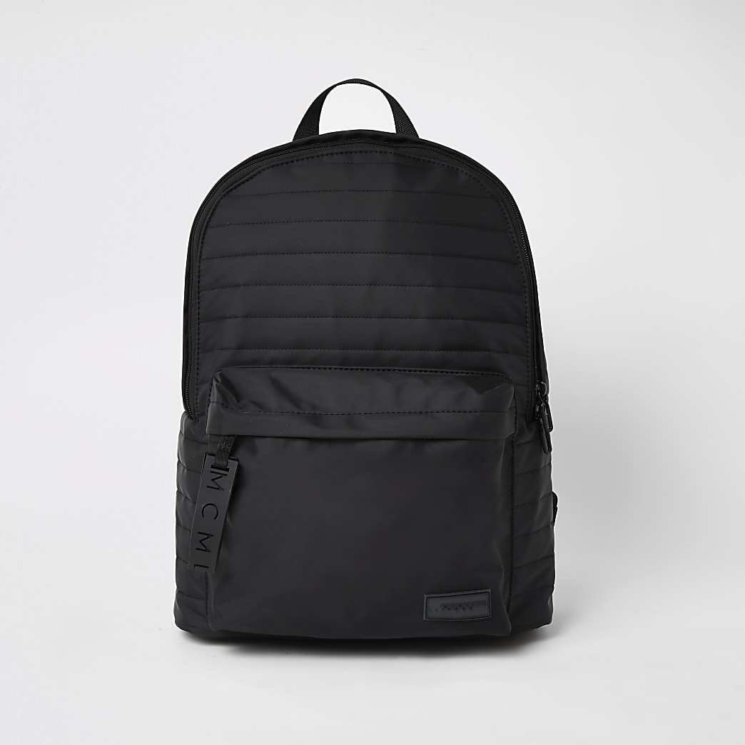 MCMLX black padded backpack