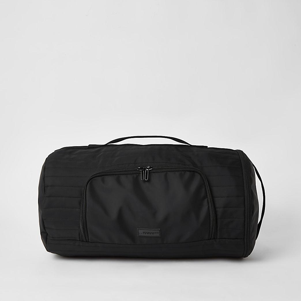 MCMLX black padded holdall backpack
