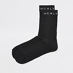MCMLX – Chaussettes tube côtelées noires