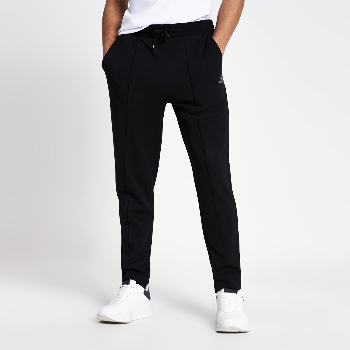 MCMLX - Zwarte slim-fit piqué joggingbroek