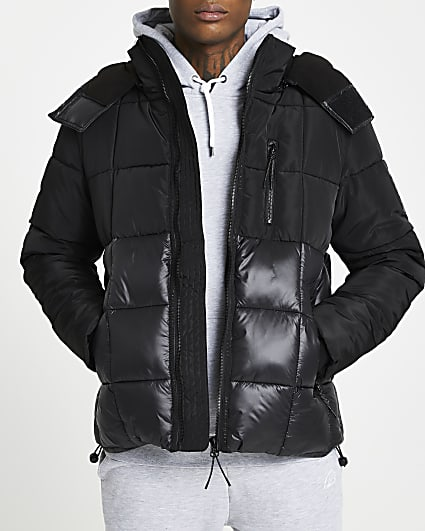 MCMLX black square quilted puffer jacket