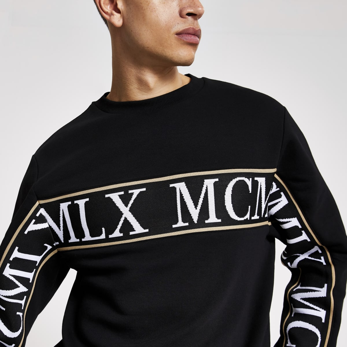 MCMLX Zwarte tape slim-fit sweater