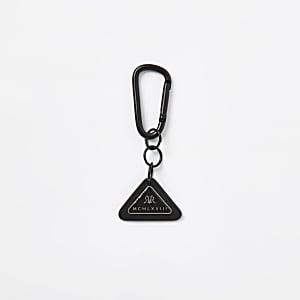 MCMLX Zwarte sleutelhanger met driehoekige penning