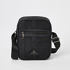 MCMLX - Zwarte crossbodytas met rits voor