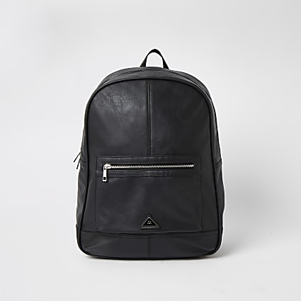 MCMLX black zip front pocket backpack