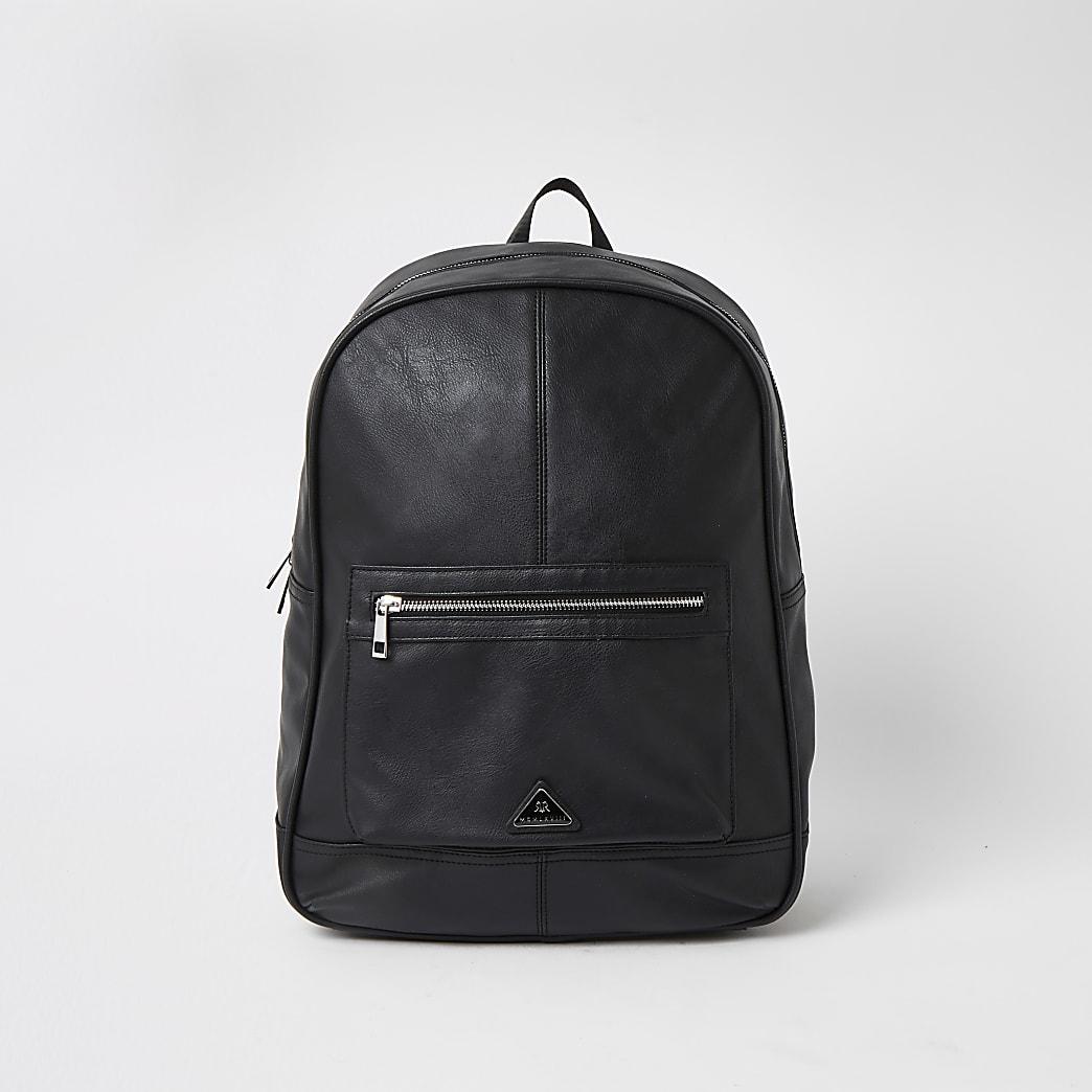 MCMLX - Zwarte rugzak met zak en rits voor