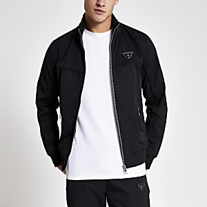 MCMLX – Schwarze Jacke mit Reißverschluss vorne