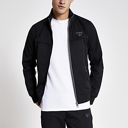 MCMLX black zip front racer jacket
