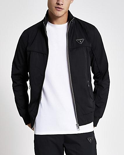 MCMLX black zip front racer jacket