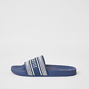 MCMLX - Blauwe slippers met reliëf