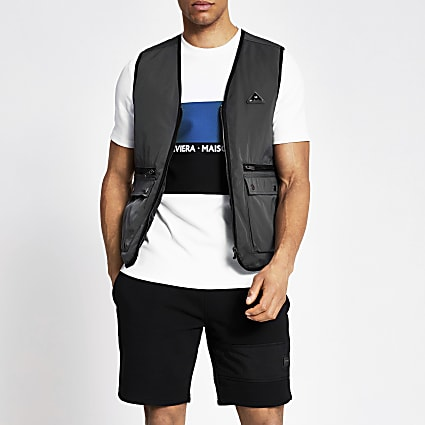 MCMLX dark grey nylon gilet