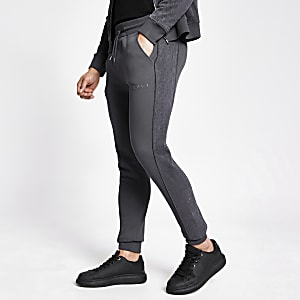 MCMLX dark grey velour joggers