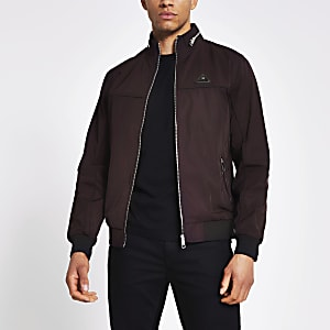 MCMLX dark red nylon racer jacket