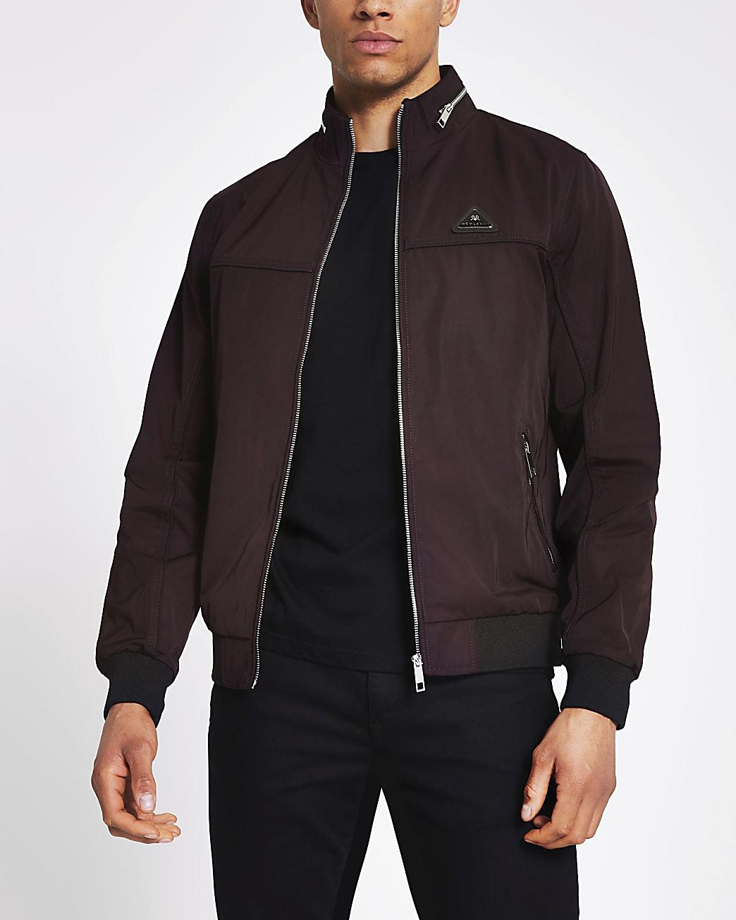 MCMLX dark red nylon racer jacket