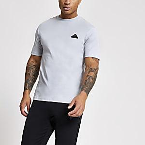 MCMLX – Graues T-Shirt im Slim Fit mit Aufnäher