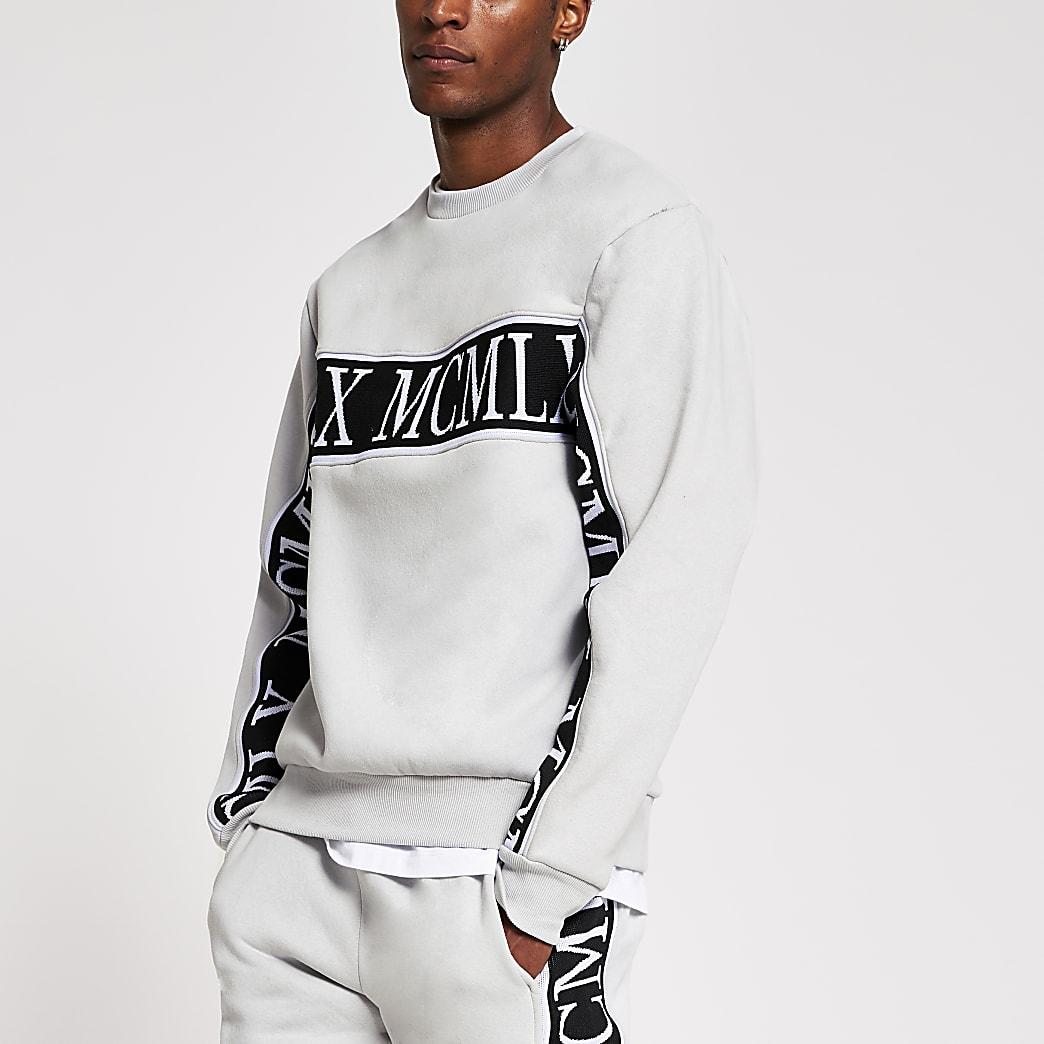 MCMLX - Grijze slim-fit sweater