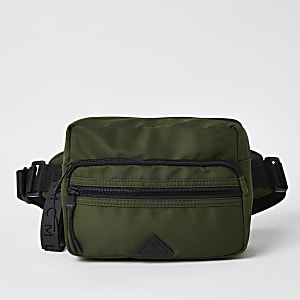 MCMLX khaki zip front cross body bag
