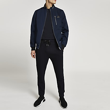 MCMLX navy nylon racer jacket