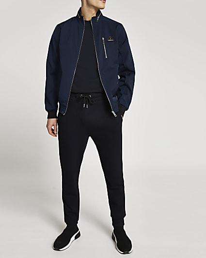 MCMLX navy nylon racer jacket