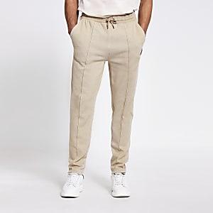MCMLX– Pantalon de joggin slim en maille piquée grège