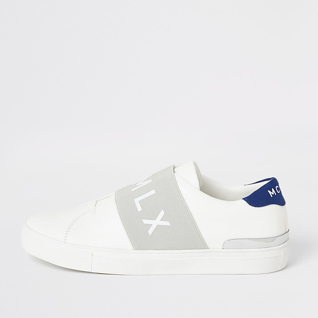 MCMLX white elasticated cupsole trainers