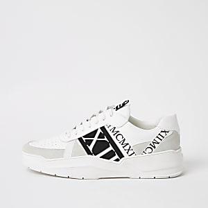 MCMLX – Baskets à bandes et lacets blanches