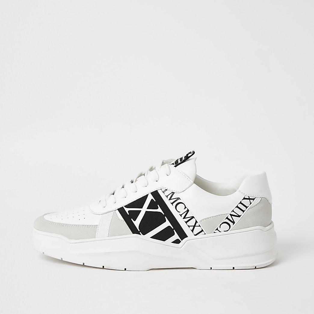 MCMLX – Weiße Sneaker zum Schnüren mit Tape