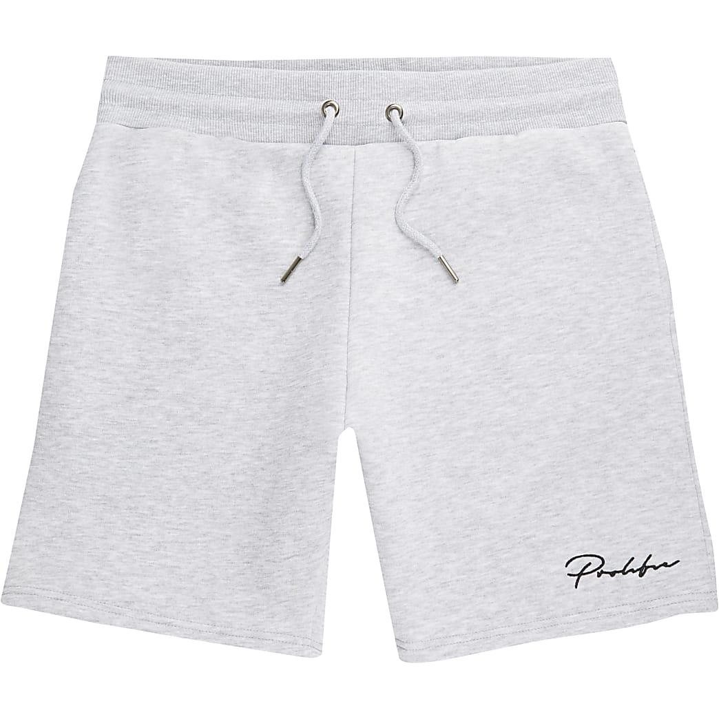 Mens Prolific grey marl slim fit shorts