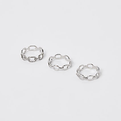 Metal chain ring 3 pack