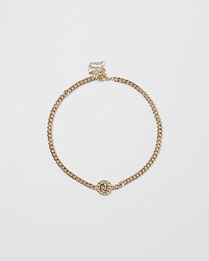 Metal chunky chain RI necklace