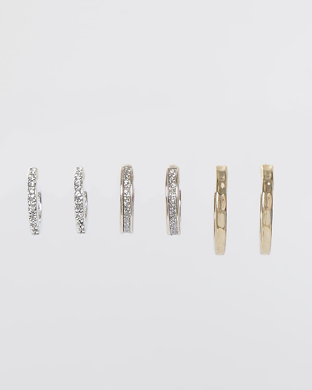 Metal multi glitter hoop 3 pack