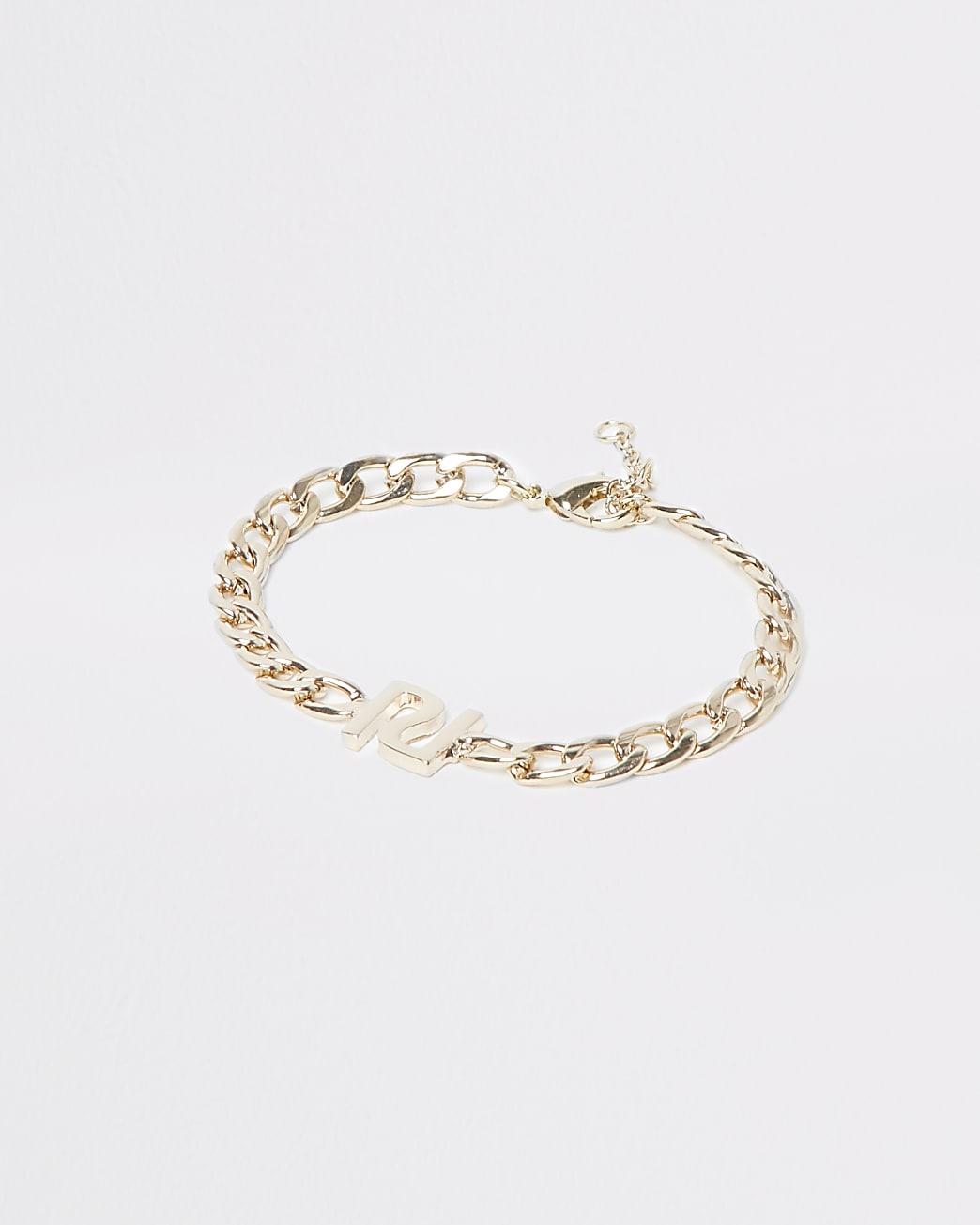 Metal RI chain bracelet